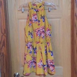 Mustard Yellow floral romper